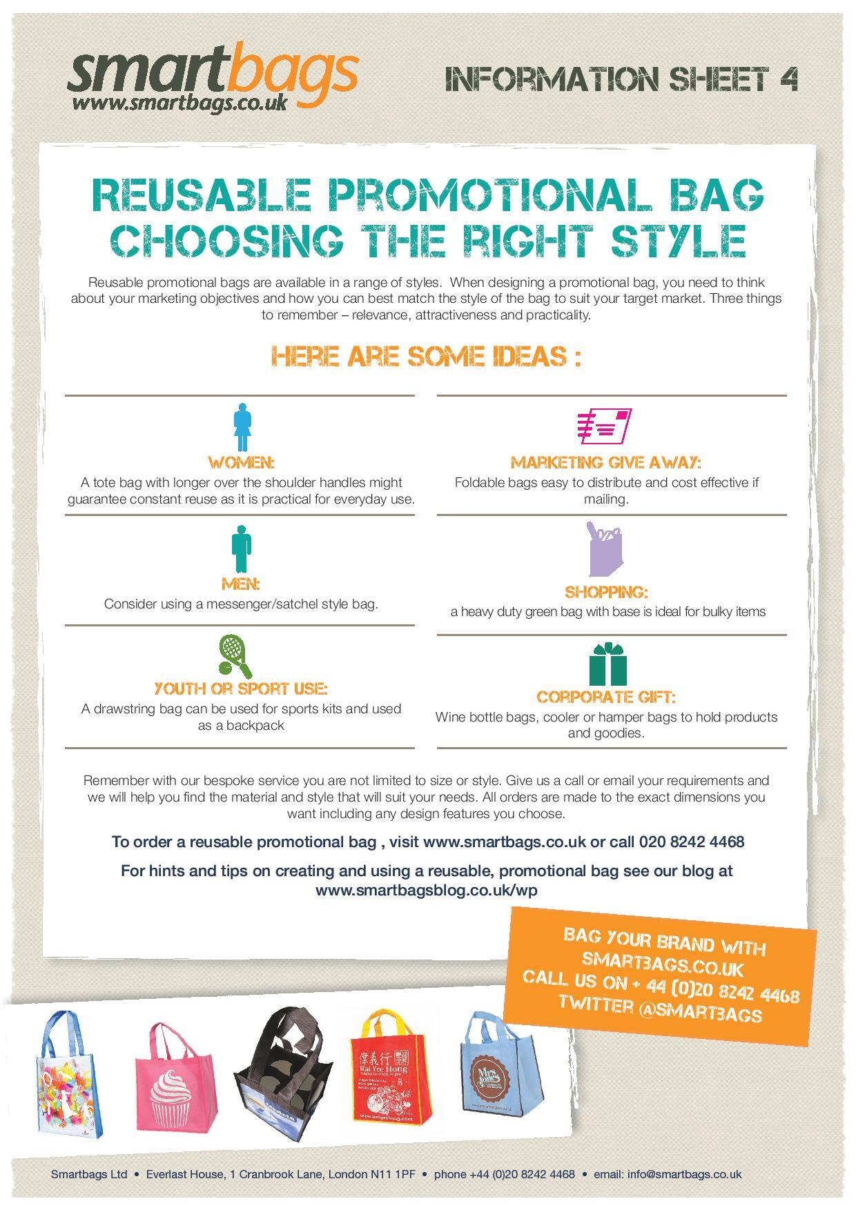 Choosing the Right Bag Style for Your Reusable Promotional Bags