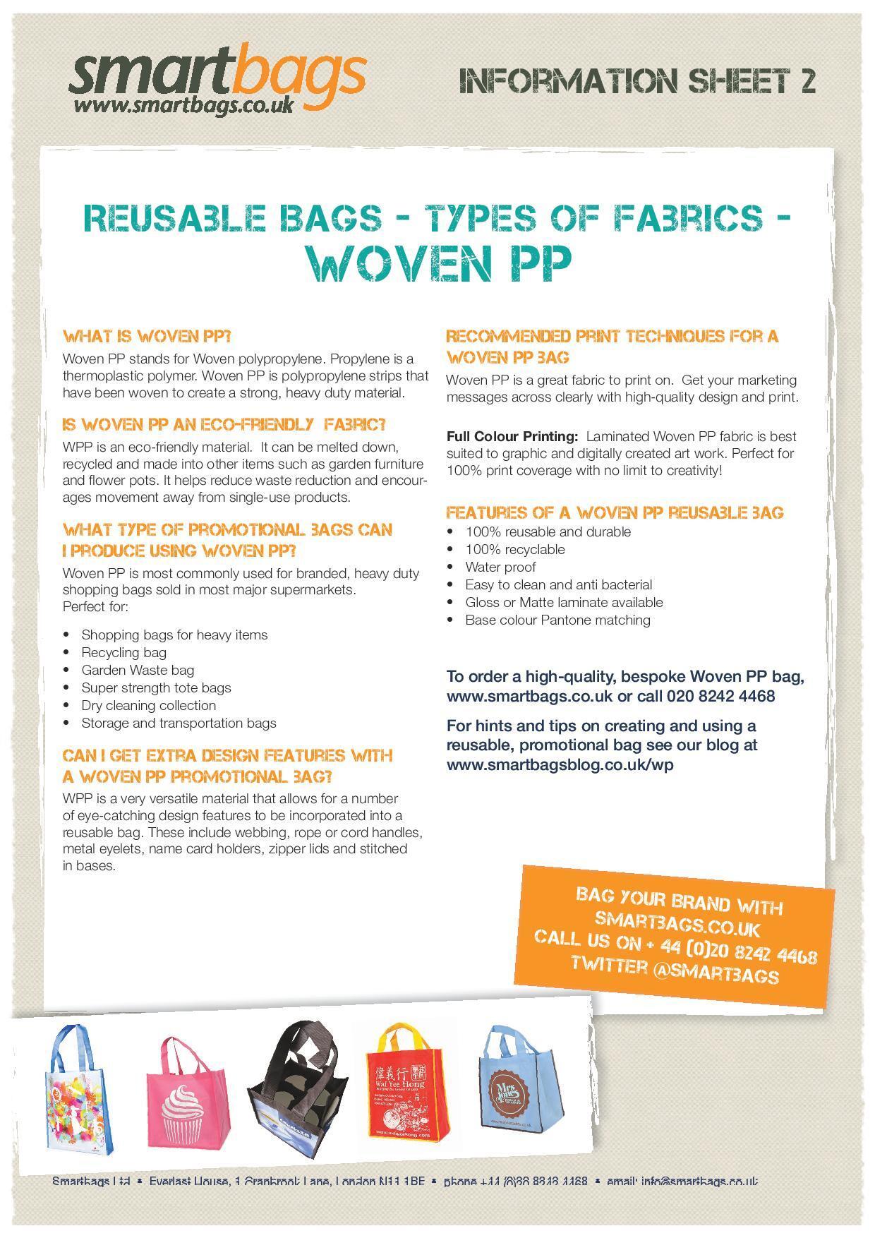Reusable Bag Fabric - Woven PP