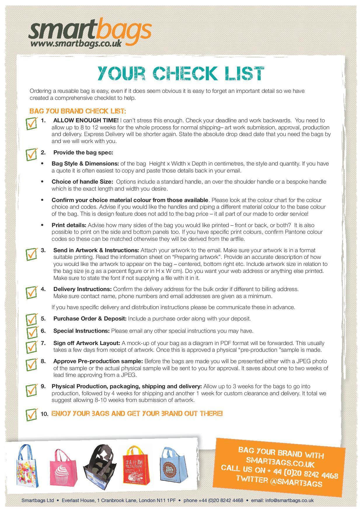 Order Process Checklist