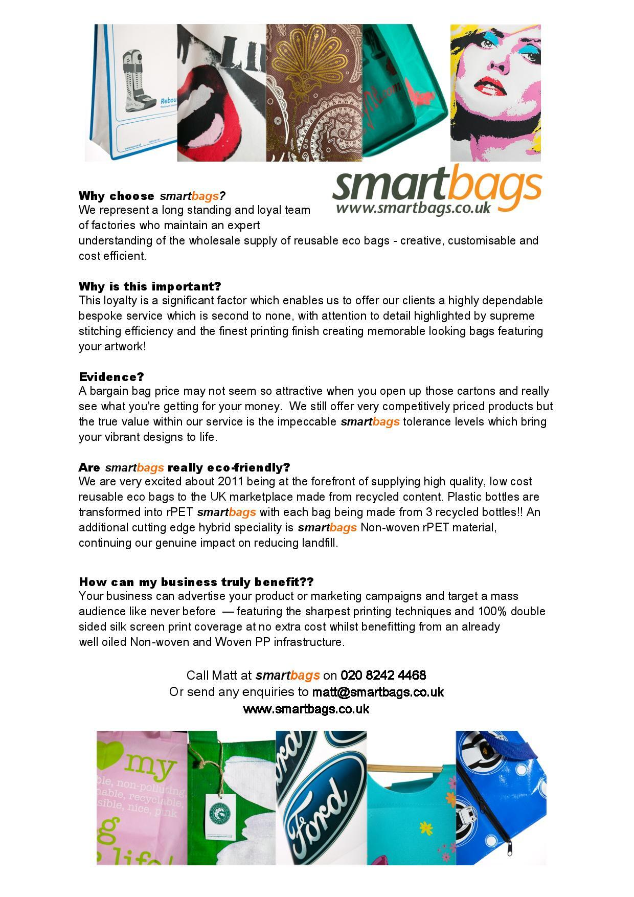 Why Choose Smartbags