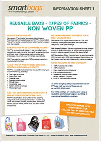 Reusable Bag Fabric - Non Woven PP