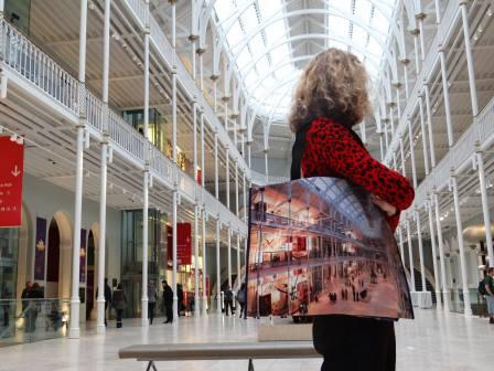 Printed Reusable Tote Bag for Museum of Scotland