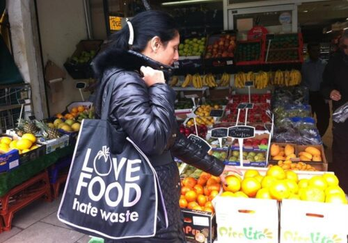 "It's a WRAP! Reusable Bags promote ""Love Food Hate Waste"""