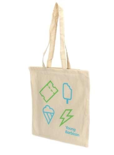 Stock 5oz Natural Cotton Shopper Bag