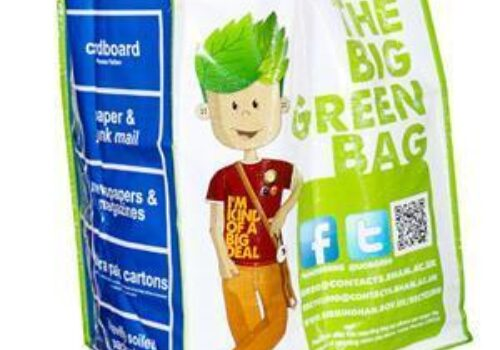 Bespoke Recycling Bags Encourage Students to Recycle