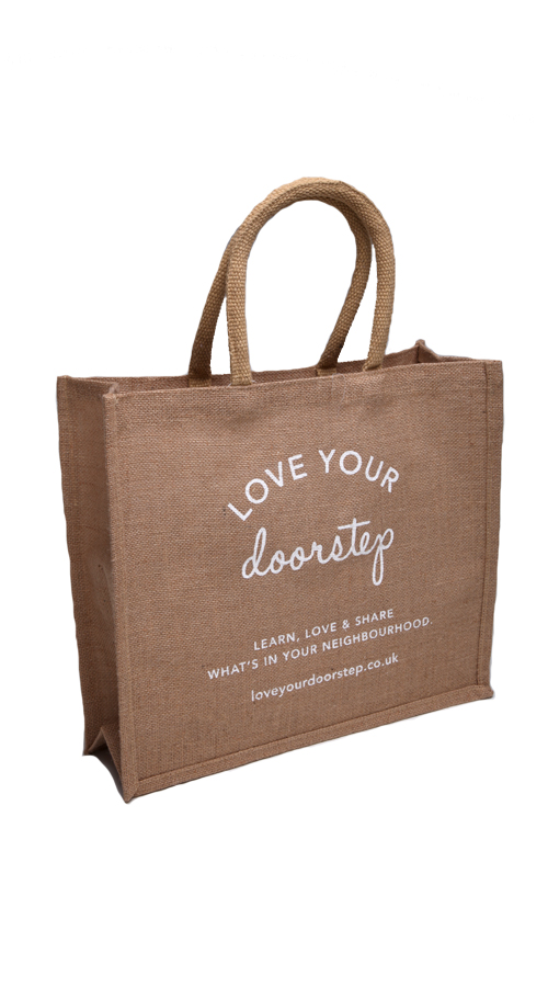 Stock Natural Jute Tote Shopping Bag