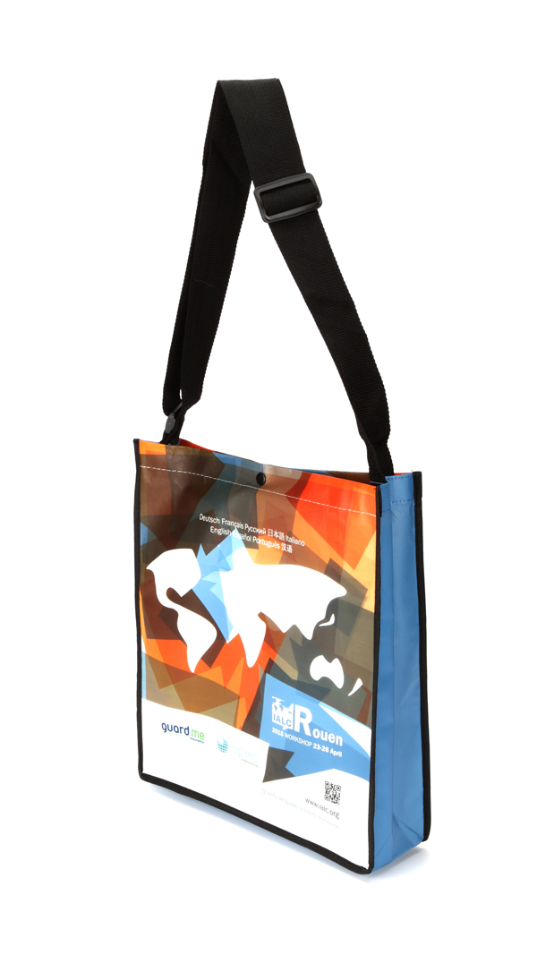 Messenger Bag with Popper (Laminated)