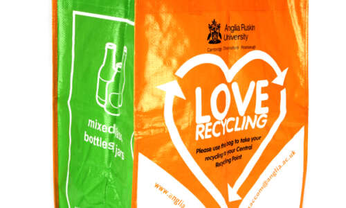 Printed Reusable Recycling Bags for Waste Management Teams & Local Authorities