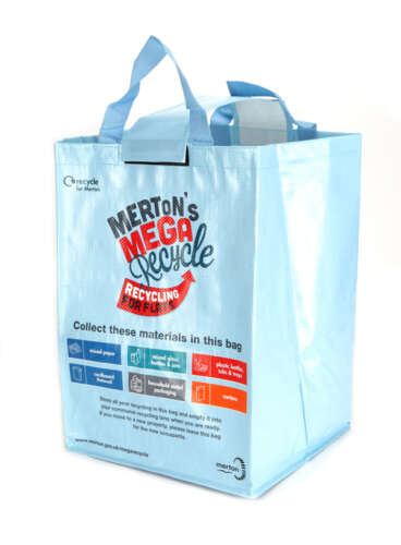 49 Litre Woven PP Recycling Bag (Laminated)