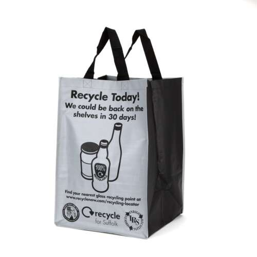 55 Litre Piping Style Recycling Bag (Laminated)