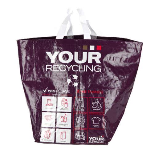 40 Litre Circular Style Recycling Bag (Laminated)