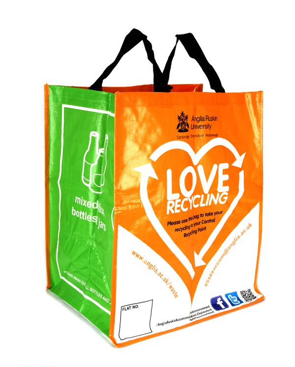 60 Litre Woven PP Recycling Bag (Laminated)