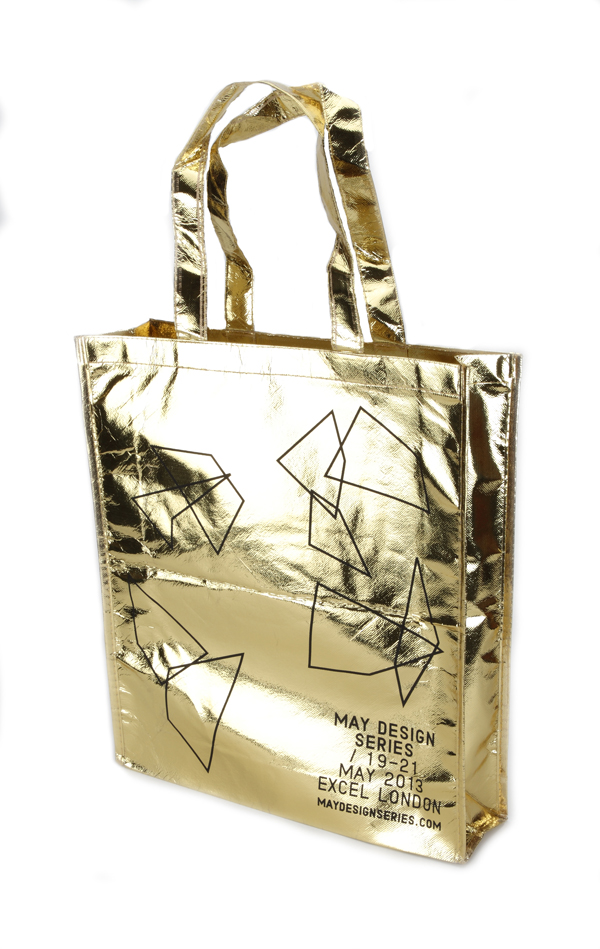 Metallic Large Portrait Tote Bag (Laminated)