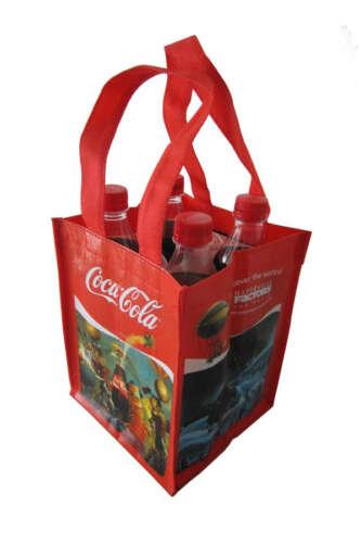Laminated 4 Bottle Carry Bag