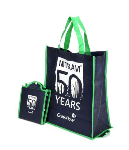 Foldable Tote Bag with Hard Base